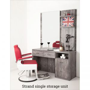 Strand Single Storage Barber Unit