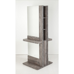 Alix 2 Position Freestanding Mirror Unit with Storage