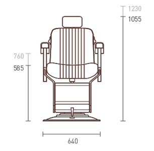 Apollo 2 Elite White Barber Chair dimensions
