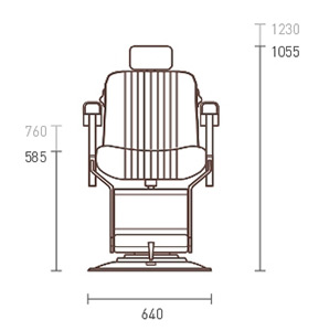 Apollo 2 Icon Barber Chair dimensions