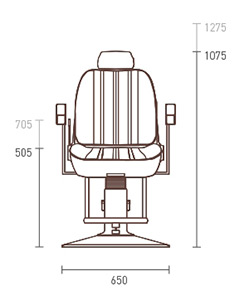 GT Sportsman Barber Chair dimensions
