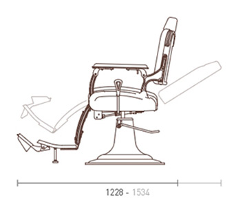 Legacy 95 Barber Chair dimensions