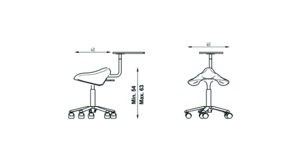 Harley Easy Stool dimensions